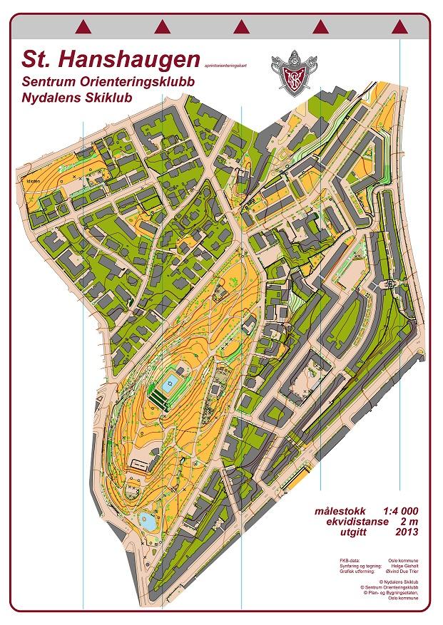 st hanshaugen kart Kart | Nydalens Skiklub st hanshaugen kart